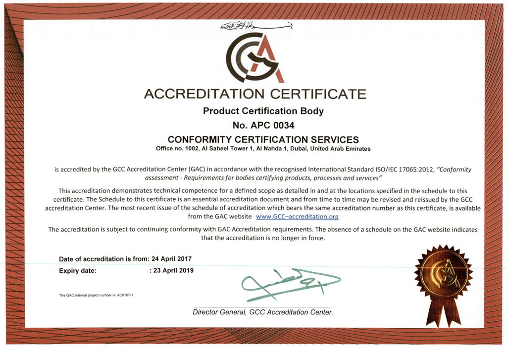 accreditation certification testing fire test inspection